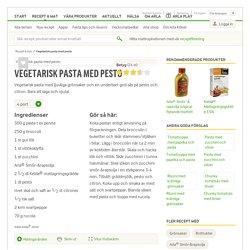 Vegetarisk pasta med pesto