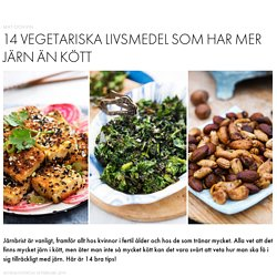 Vegetariska livsmedel med mycket järn