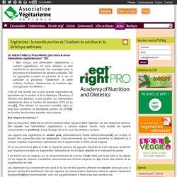 Végétarisme : la nouvelle position de l'Académie américaine de nutrition et de diététique