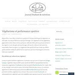 Végétarisme et performance sportive