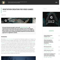 Vegetation Creation for Video Games
