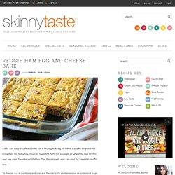 Veggie Ham Egg and Cheese Bake