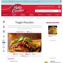 Veggie Pancakes Recipe from Betty Crocker