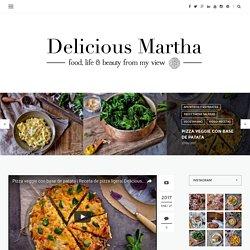 Pizza veggie con base de patata - Delicious Martha