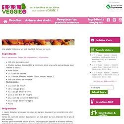 Veggie bowl quinoa, patate douce rôtie et poireau1.2.3. Veggie