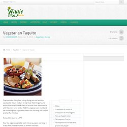 Vegetarian Taquito