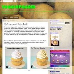 VeggiePharm: What's in your snack? Titanium Dioxide