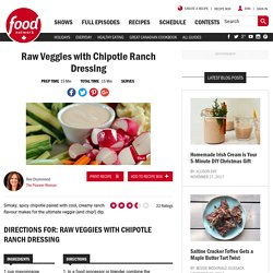 Raw Veggies with Chipotle Ranch Dressing Recipes