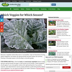 Which Veggies for Which Season?