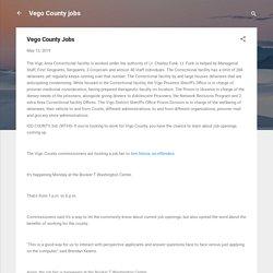 Vego County Jobs