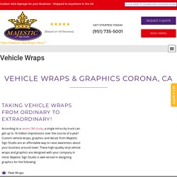 Custom Vehicle Wraps By Majestic Sign Studio