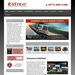 GPS Fleet, Vehicle and Equipment Tracking System| Real Time GPS Tracking Software & Asset Management Solution - RASTRAC