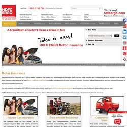 Motor Insurance Policies by HDFC ERGO