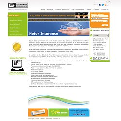 Car, Motor & Vehicle Insurance Dubai, Abu Dhabi, Sharjah UAE