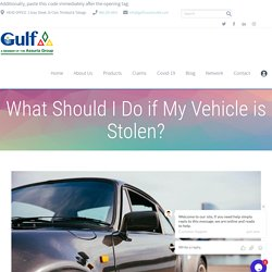 What Should I Do if My Vehicle is Stolen? - Best Insurance Company Trinidad & Tobago - Gulf Insurance Limited