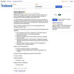 Vehicle Mechanic job - Jaguar Land Rover - Amersham