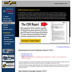 Vehicle Crash Data Retrieval, Crash Data Group CDR software