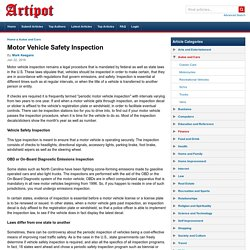 Motor Vehicle Safety Inspection