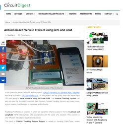 Vehicle Tracking System Project using GPS and Arduino