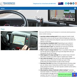 FAQs - Vehicle Tracking & GPS Solutions, New Zealand