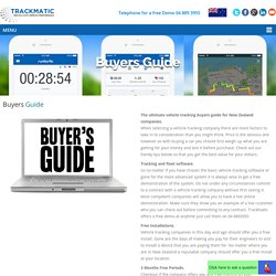 Buyers Guide - Vehicle Tracking & GPS Solutions, New Zealand