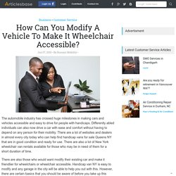 How Can You Modify A Vehicle To Make It Wheelchair Accessible?