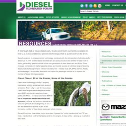 Clean Diesel Vehicles Available in the U.S.