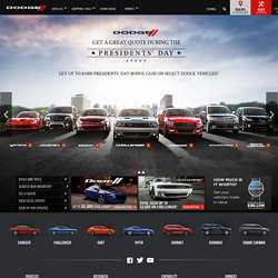 Official Dodge Site - New Autos, Trucks, Minivans, SUVs, Cars, Wagons