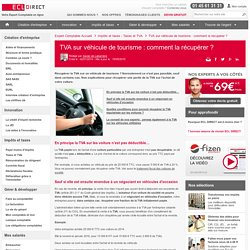 TVA sur véhicule de tourisme : comment la récupérer ?