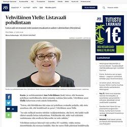 Vehviläinen Ylelle: Listavaali pohdintaan - Vaalit - Politiikka