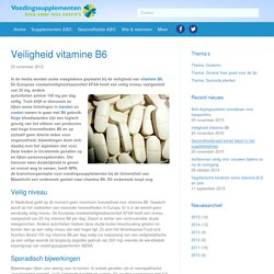 Veiligheid vitamine B6