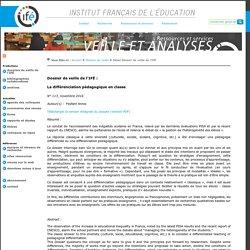 La différenciation pédagogique en classe_Dossier de l'ifé