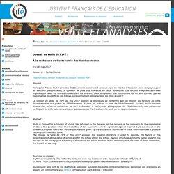 Autonomie des établissements_À la recherche de l'autonomie des établissements_Dossier veille de L'Ifé
