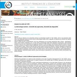 Veille et Analyses de l'ifé: dossier sur le décrochage scolaire