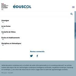 Veille éducation numérique 2019-2020