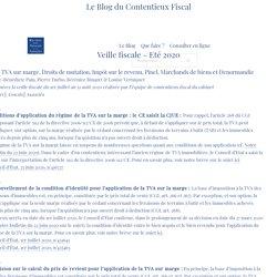 Veille fiscale - Eté 2020 - Blog du contentieux fiscal