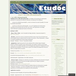 cours 7- La veille informationnelle « Etudoc's Weblog