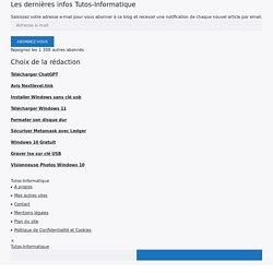 Veille Informatique - Des sites utiles à consulter