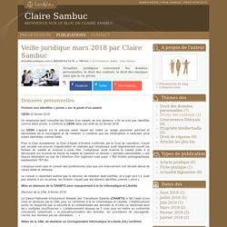 Veille juridique mars 2018 par claire sambuc - Claire sambuc