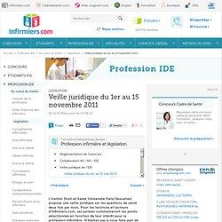 Veille juridique du 1er au 15 novembre 2011