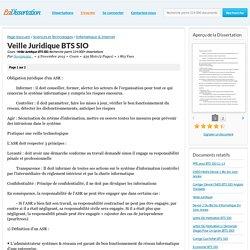 Veille Juridique BTS SIO - Cours - Scorpia592 .