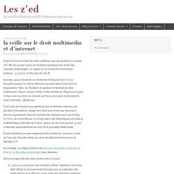 la veille sur le droit multimedia et d'internet