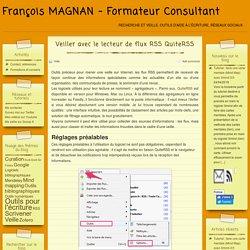 Veiller avec le lecteur de flux RSS QuiteRSS – François MAGNAN – Formateur Consultant