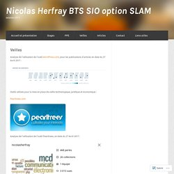 Veilles : Nicolas Herfray BTS SIO option SLAM
