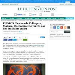 Des nus de Velásquez, Matisse, Duchamp etc. recréés par des étudiants en art