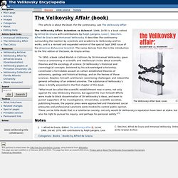 The Velikovsky Affair (book)