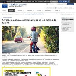 A vélo, le casque obligatoire pour les moins de 12 ans