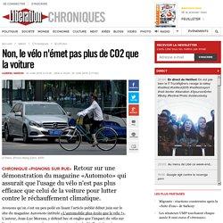 Non, le vélo n'émet pas plus de CO2 que la voiture