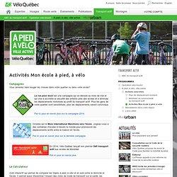 Vélo Québec - Activités Mon école à pied, à vélo.