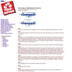 Velo-Retro: Campagnolo Timeline